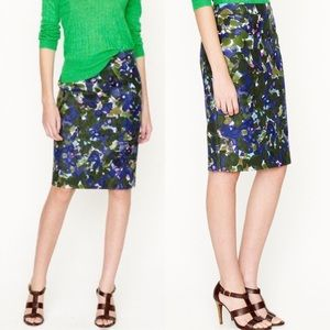 "J. Crew ""No. 2 pencil skirt in gardenshade floral"""